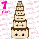 Seven Tiered Wedding Cake