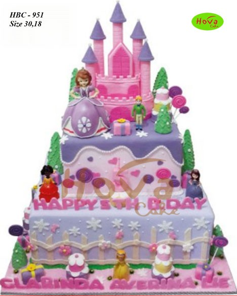 Pin Sofia The First Birthday Party Cake On Pinterest