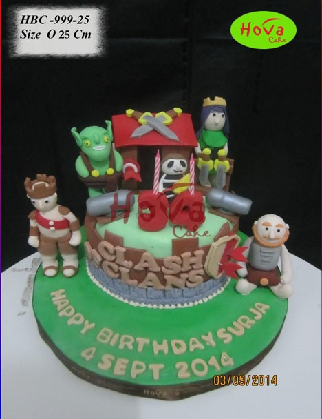 Cake Design Coc : Birthday Cake COC Pesan BIrthday Cake Clash of Clans ...