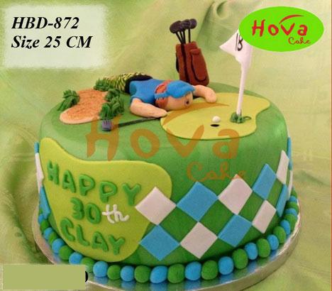 Pesan Birthday Cake untuk Pecinta Golf Toko dan Vendor Kue Hova
