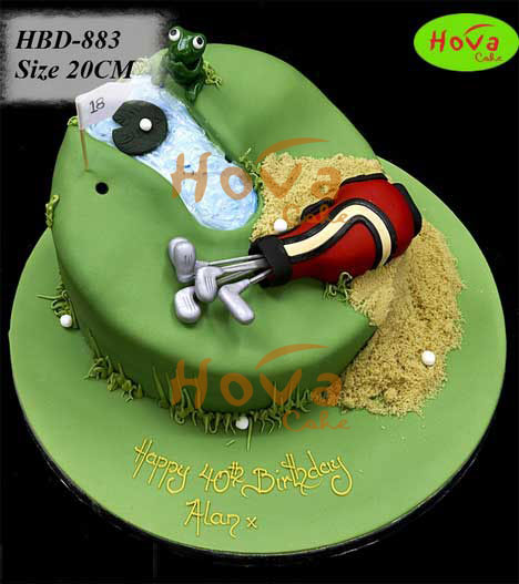 Golf Playing Birthday Cake Pesan For Your Golf Lovers Birthday