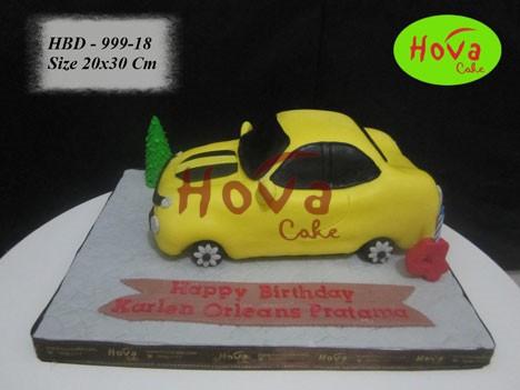Birthday Cake Sport Car 3d Pesan Kue Ulang Tahun Mobil