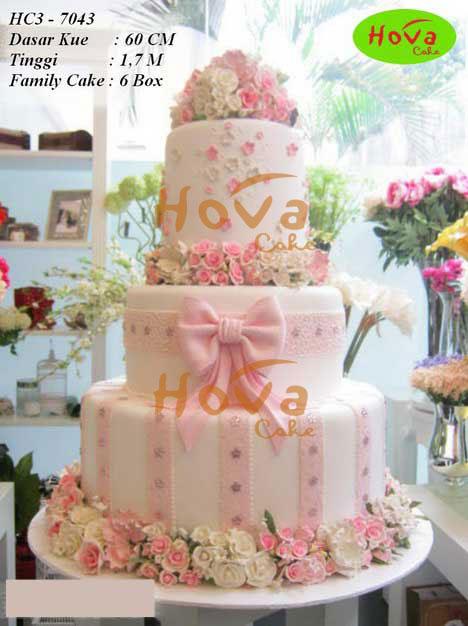 3 tiers wedding cake pesan toko dan vendor kue hova